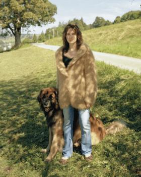 куртка из шерсти собаки